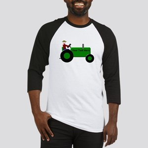 Personalized Green Tractor Baseball Jersey