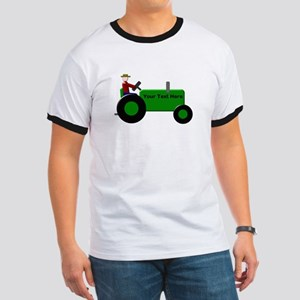 Personalized Green Tractor Ringer T