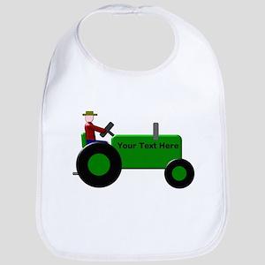 Personalized Green Tractor Bib
