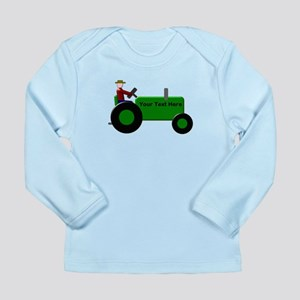 Personalized Green Trac Long Sleeve Infant T-Shirt
