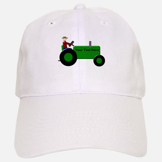Personalized Green Tractor Cap