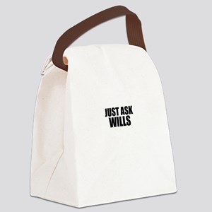 Just ask WILLS Canvas Lunch Bag