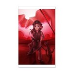 Red Flag 35x21 Wall Decal