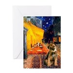 Ter Cafe / Border T Greeting Card