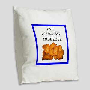 pierogi Burlap Throw Pillow