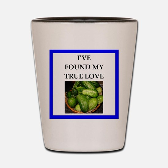 pickles Shot Glass