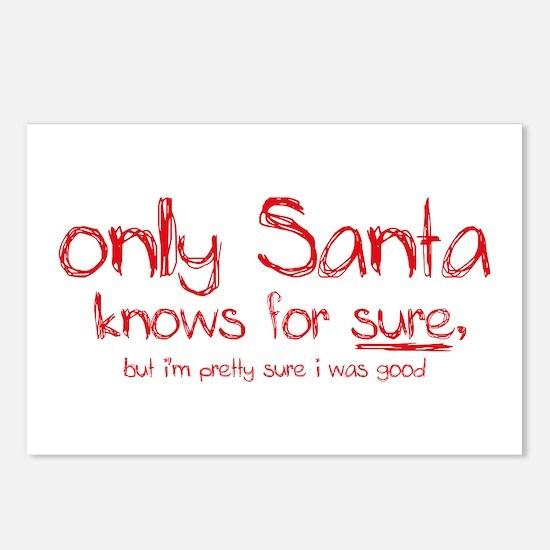 Santa Knows Postcards (Package of 8)