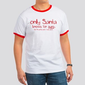 Santa Knows Ringer T