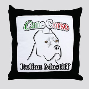 Cane Corso white t Throw Pillow