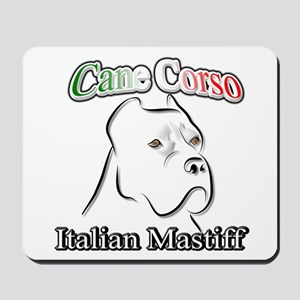 Cane Corso white t Mousepad