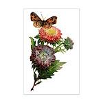 Butterfly Flower Garden Mini Poster Print