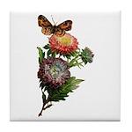 Butterfly Flower Garden Tile Coaster