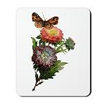 Butterfly Flower Garden Mousepad