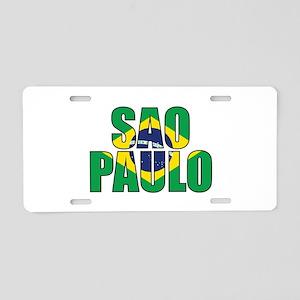Sao Paulo Aluminum License Plate