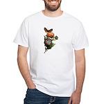 Butterfly Flower Garden (Front) White T-Shirt
