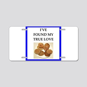 true love food joke Aluminum License Plate