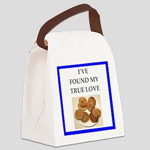 true love food joke Canvas Lunch Bag