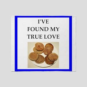 true love food joke Throw Blanket