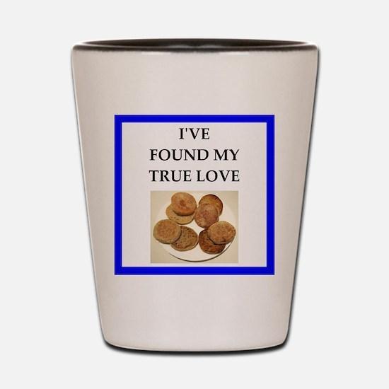 true love food joke Shot Glass