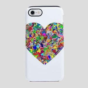 Rainbow Paint Splatter Heart iPhone 8/7 Tough Case