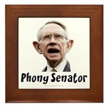 Phony Senator Harry Reid Framed Tile