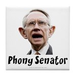 Phony Senator Harry Reid Tile Coaster