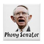 Phony Senator Harry Reid Tile Coaster