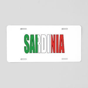 Sardinia Aluminum License Plate