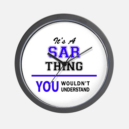 SAR thing, you wouldn't understand! Wall Clock