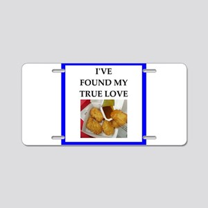 chicken nuggets Aluminum License Plate
