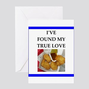 chicken nuggets Greeting Cards