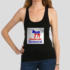 Moderate Democrat Racerback Tank Top