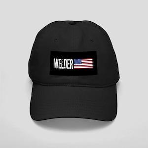 Careers: Welder (U.S. Flag) Black Cap