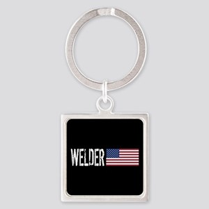 Careers: Welder (U.S. Flag) Square Keychain