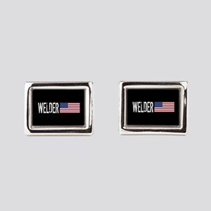 Careers: Welder (U.S. Flag) Rectangular Cufflinks