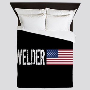 Careers: Welder (U.S. Flag) Queen Duvet