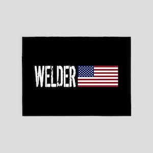 Careers: Welder (U.S. Flag) 5'x7'Area Rug