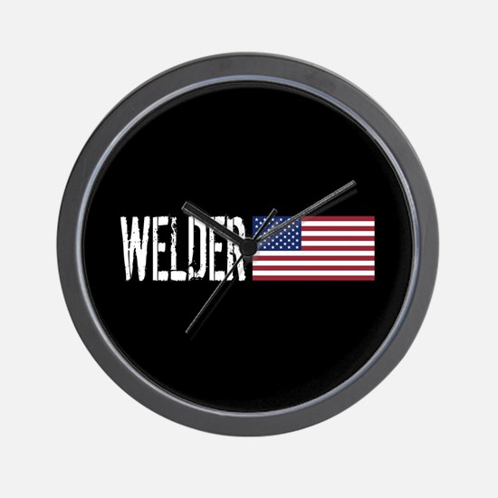 Careers: Welder (U.S. Flag) Wall Clock