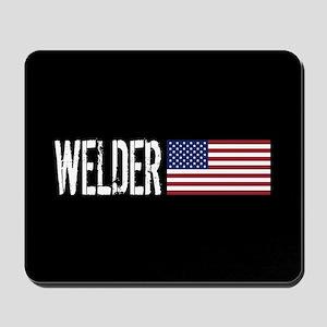 Careers: Welder (U.S. Flag) Mousepad
