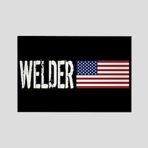 Careers: Welder (U.S. Flag) Rectangle Magnet