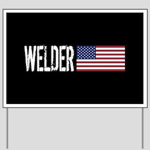 Careers: Welder (U.S. Flag) Yard Sign