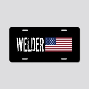Careers: Welder (U.S. Flag) Aluminum License Plate