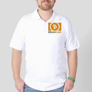 Bitcoin Cash Logo Symbol Design Icon Golf Shirt