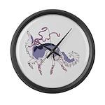 Ballet Borzoi Large Wall Clock