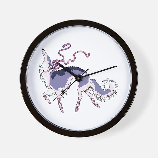 Ballet Borzoi Wall Clock
