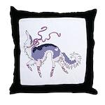 Ballet Borzoi Throw Pillow
