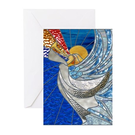 Angel With Trumpet Greeting Cards (Pk of 10)