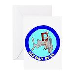 USS Daly (DD 519) Greeting Card