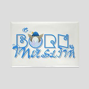 Born Muslim (blue) Rectangle Magnet