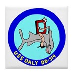 USS Daly (DD 519) Tile Coaster